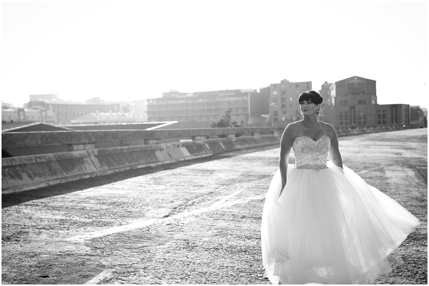 City bridal portrait