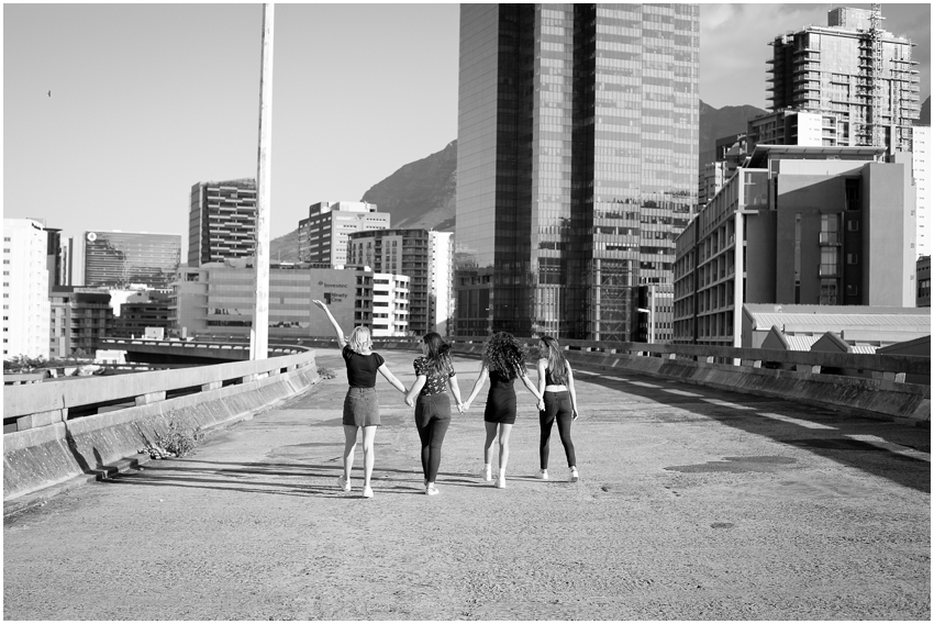 Tayla and friends in Cape Town